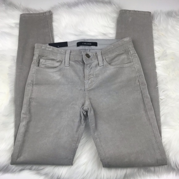 J Brand Denim - J Brand Light Gray Corduroy Skinny Pants sz 25